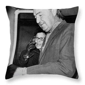 Adam Clayton Powell Retires Throw Pillow