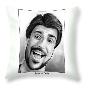Singing Drawings Throw Pillows