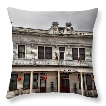 Throw Pillow featuring the photograph Adams Hotel Lavina Montana by Mick Flynn