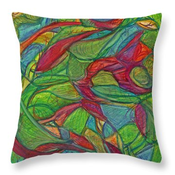 Adapt Or Perish Throw Pillow