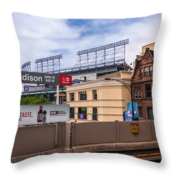 Addison Street Station Throw Pillow by Tom Gort