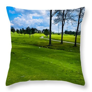 Addressing The Ball  Throw Pillow