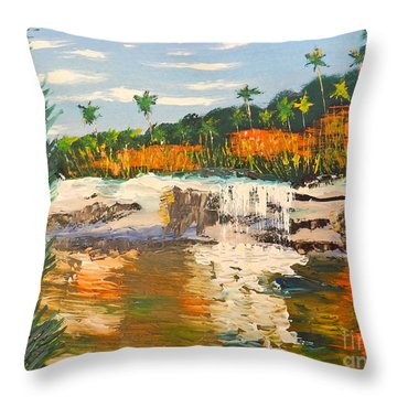 Adele Gorge At Lawn Hill National Park Throw Pillow