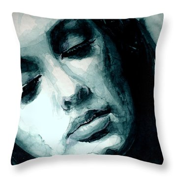Adele In Watercolor Throw Pillow by Laur Iduc