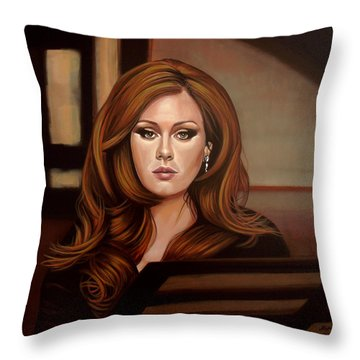 Adele Throw Pillow by Paul Meijering