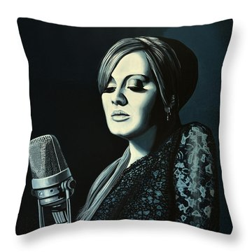 Adele 2 Throw Pillow by Paul Meijering