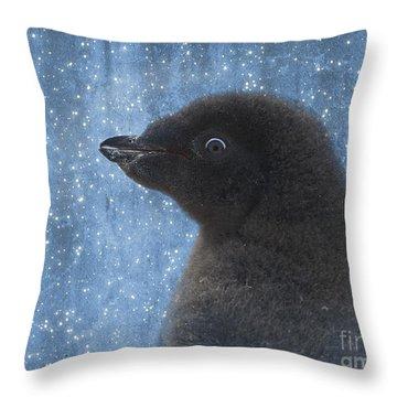 Adelie Winter Magic... Throw Pillow by Nina Stavlund