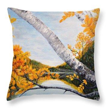 Adirondacks New York Throw Pillow