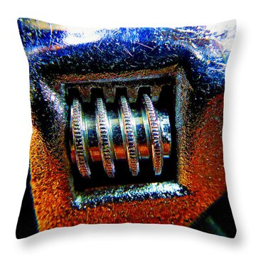 Adjustable Wrench E Throw Pillow