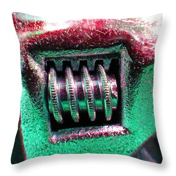 Adjustable Wrench F Throw Pillow