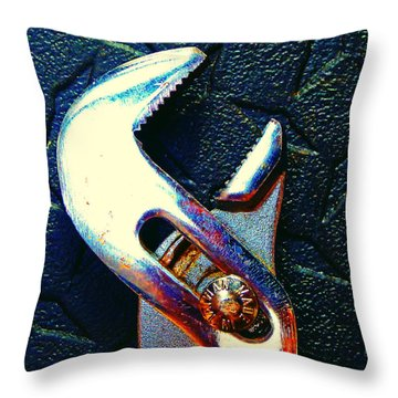 Throw Pillow featuring the photograph Adjustable Wrench G by Laurie Tsemak