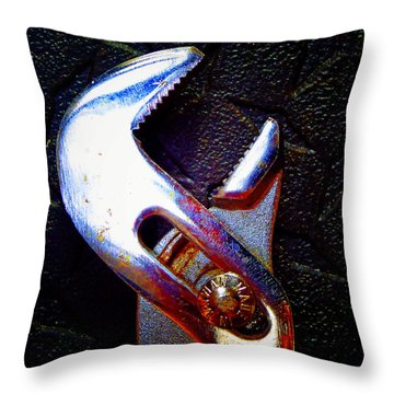Adjustable Wrench H Throw Pillow