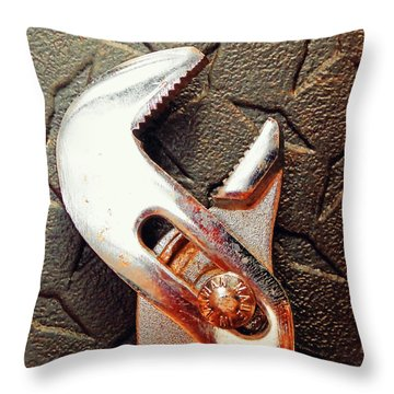 Adjustable Wrench I Throw Pillow