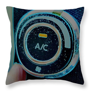 Adjusting The Air Conditioning Throw Pillow by Renee Trenholm