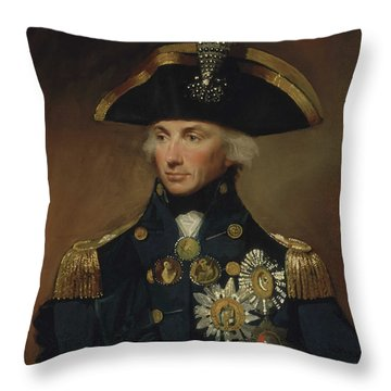 Admiral Horatio Nelson Throw Pillow