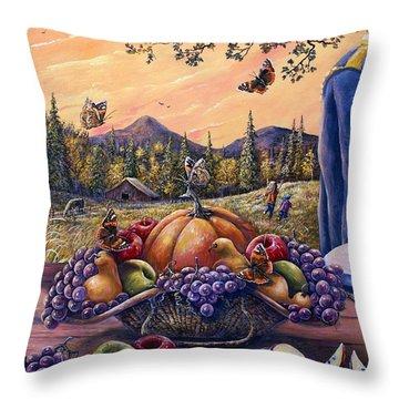 Admirals Harvest Throw Pillow