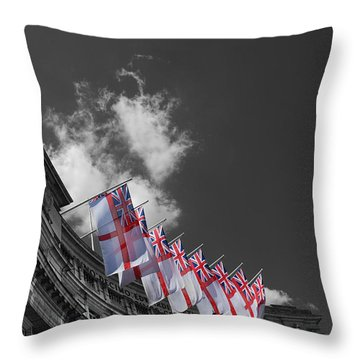 Admiralty Arch London Throw Pillow by Mark Rogan