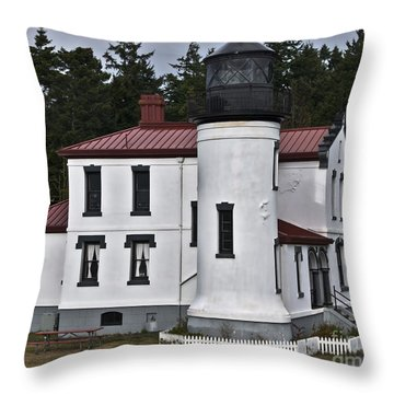 Throw Pillow featuring the photograph Admiralty Head Lighthouse 2 by Kirt Tisdale