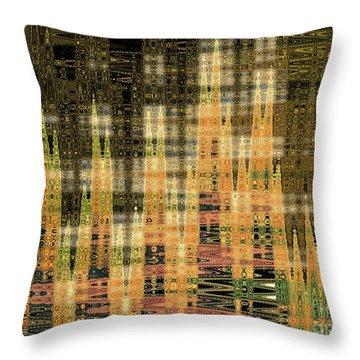 Throw Pillow featuring the digital art Admiring Gustav by Ann Johndro-Collins