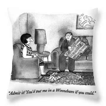 Admit It!  You'd Put Me In A Winnebago If Throw Pillow