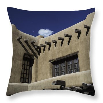 Adobe Architecture 01 Throw Pillow