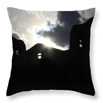 Adobe In The Sun Throw Pillow by Mike McGlothlen