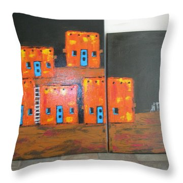 Adobes Throw Pillow