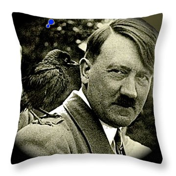Adolf Hitler And A Feathered Friend C.1941-2008 Throw Pillow