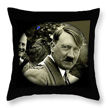 Adolf Hitler And A Feathered Friend C.1941-2008 Throw Pillow by David Lee Guss