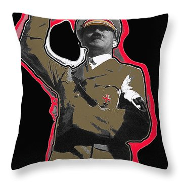 Adolf Hitler Saluting 2 Circa 1933-2009 Throw Pillow by David Lee Guss