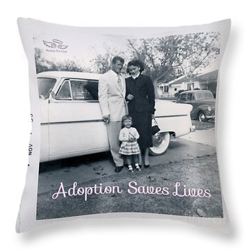 Adoption Saves Lives Throw Pillow
