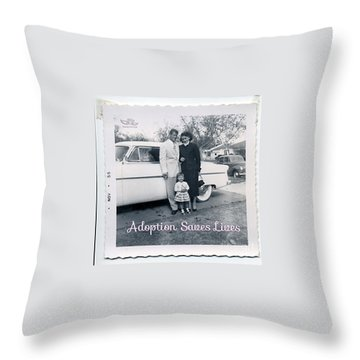 Adoption Saves Lives Throw Pillow