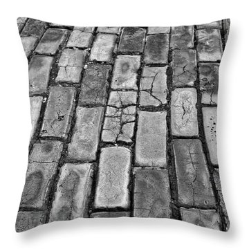 Adoquines - Old San Juan Pavers Throw Pillow