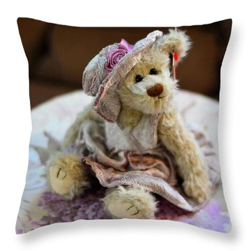 Adorable Little Teddy Bear Throw Pillow