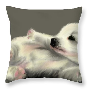 Adorable Pup Throw Pillow