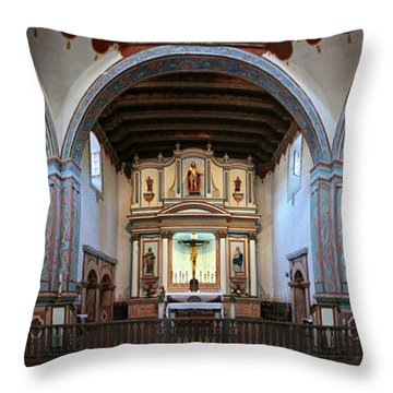 Adoration - Mission San Luis Rey De Francia  Throw Pillow