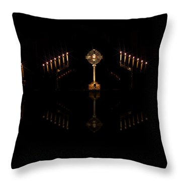 Throw Pillow featuring the photograph Adoration by Cecil Fuselier