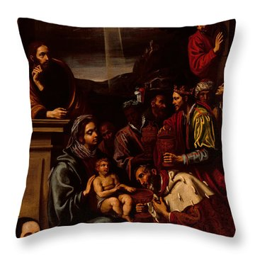 Adoration Of The Magi Throw Pillow by Unknown
