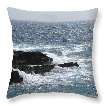 Adriatic Sea Throw Pillow by Eva Csilla Horvath