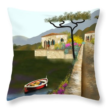 Adriatic Splendor Throw Pillow