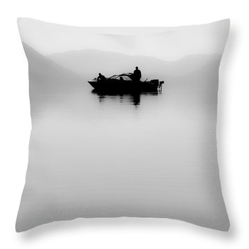 Throw Pillow featuring the photograph Adrift by Aaron Aldrich