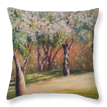 Adrift Within Throw Pillow by Debbie Lamey-MacDonald