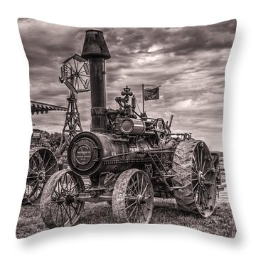 Advance Steam Traction Engine Throw Pillow by Shelly Gunderson