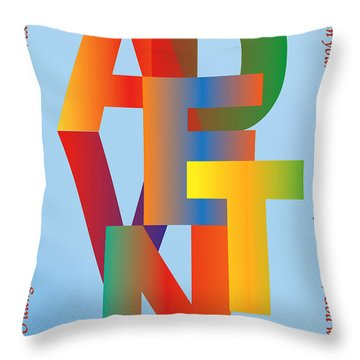 Advent Throw Pillow by Chuck Mountain