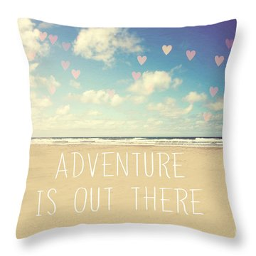 Adventure Is Out There Throw Pillow by Sylvia Cook