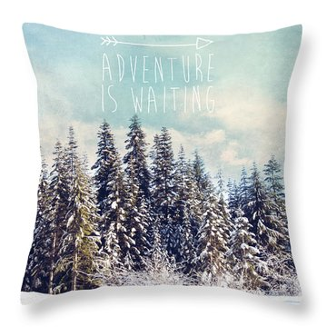 Throw Pillow featuring the photograph Adventure Is Waiting by Sylvia Cook