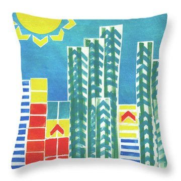 On The Sunnyside Throw Pillow