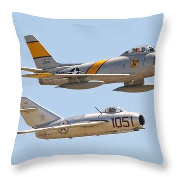 Throw Pillow featuring the photograph Adversaries by Jeff Cook