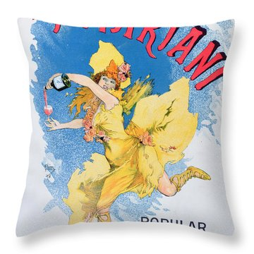 Advertisement For Vin Mariani From Theatre Magazine Throw Pillow by English School