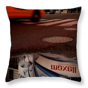 Advertising Puddles Throw Pillow by Karol Livote